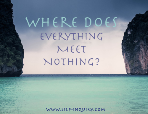 """Where does everything meet nothing?"""