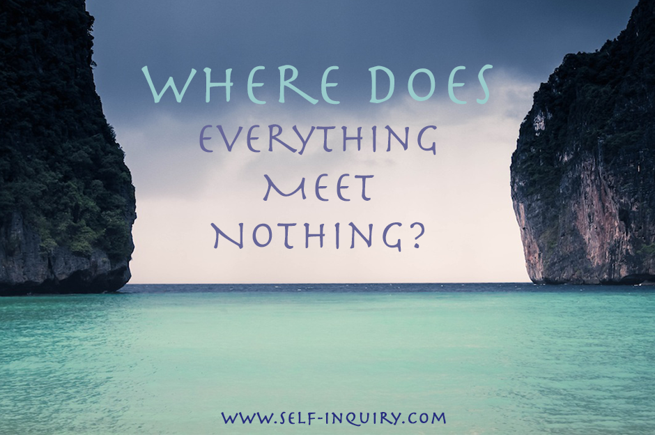 Where does everything meet nothing?